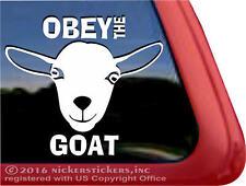 OBEY THE GOAT   High Quality Nigerian Dwarf Goats Window Decal Sticker