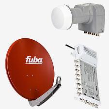 Fuba Sat Anlage Spiegel DAA850 R Rot 85 cm Ø + DEK406 +FMS 508 für 8 Teilnehmer
