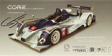 2011 Gunnar Jeannette signed Core Autosport Chevy Oreca LMPC ALMS postcard