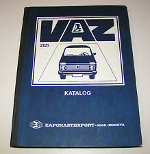 Catálogo de Piezas de Repuesto Lada Niva Vaz 2121 - Stand 1986