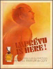 1965 Vintage ad for IMPREVU PARFUM de COTY (020113)