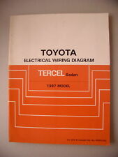 Toyota Electrical Wiring Diagram Tercel Sedan 1987 Mode