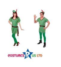 GREEN ELF SANTAS HELPER OUTFIT PETER PAN ADULT #MEN WOMEN CHRISTMAS FANCY DRESS