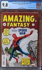 Amazing Fantasy #15 CGC 9.8 NM/M🔥 Facsimile- 1st Spider-man !🔥ABSOLUTE BEAUTY