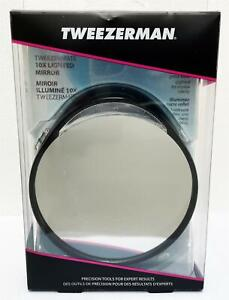 Tweezerman Tweezermate Lighted Mirror 10X Black