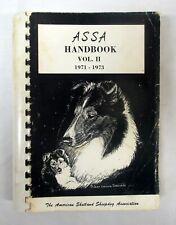 New Listing American Shetland Sheepdog Assoc. Handbook 1971-1973 Vol. 2 with color chart