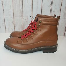 Guess Men's Light Brown Ruskin Alpine Ankle Boots Size 9 New Red Laces