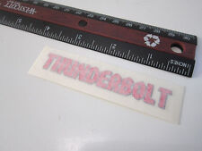 NOS Old Mid School 90s Original POWERLITE THUNDERBOLT P47 JR Frame Decal Sticker
