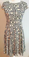 Jessica Howard Cream Gold Black Dress Size 6 Petites