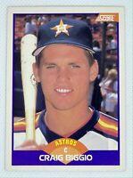 1989 Score Craig Biggio #237 Rookie Card RC Houston Astros HOF