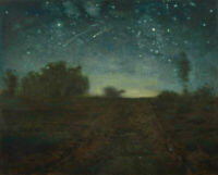 Starry Night Jean Francois Millet Fine Art Painting Giclee Print on Canvas Small