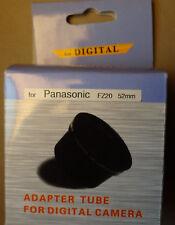 New 52mm Black Lens Adapter Ring Tube for Panasonic FZ20