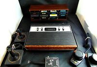 Atari 2600 Console/Game Lot Sears Tele-Games Console joysticks paddles 10 Games