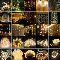Warm White LED Fairy String Lights Christmas Wedding Party Outdoor Indoor Decor