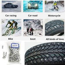 100 Pcs 9mm Steel Body Car SUV Truck Motorcycle Snow Chain Antislip Tire Stud