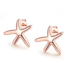 Women's Starfish Earrings New Fashion 18k Rose Gold Filled Unique Ear Stud