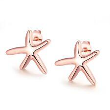 Women's Starfish Earrings Ear Stud 18k Rose Gold Filled Fashion Jewelry NEW Gift
