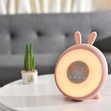 LED Digital Alarm Clock Wake-up Light Bunny Mood Light
