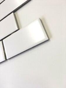 2x4 White Matte Subway Ceramic Tile Kitchen Backsplash Bathroom 2x4 Sample Ebay