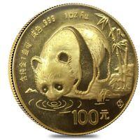 1987 S 1 oz Chinese Gold Panda 100 Yuan BU (Sealed)