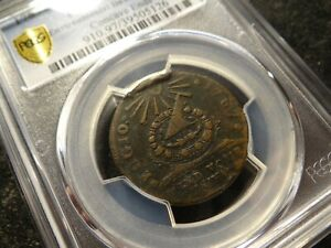 1787 PCGS VF Details FUGIO Copper Cent 910 Concave Rays 6 Known Die Pair 5HH
