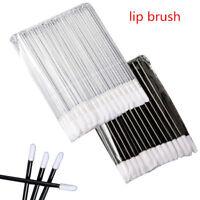 50pc Disposable Lip Brush Cosmetic Lipstick Gloss Wands Applicator Makeup Tool