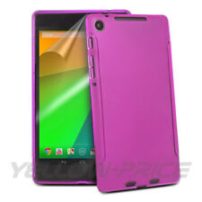 High Quality Google Nexus 7 2nd. Hot Pink Case Skin+3-Pack Screen Film