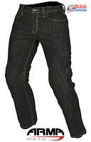 ARMR hommes ARAMIDE RENFORCÉ JEANS PANTALON MOTO Jeans Renfort ce noir