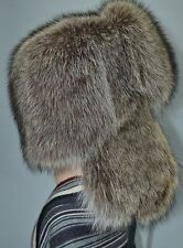 Raccoon Full Natural Real Fur Hat Chapka Shapka Ushanka Men