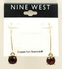 Nine West Red Crystal Threader Earrings New!