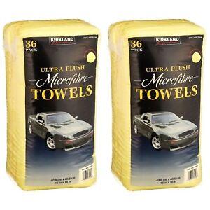 72 x Kirkland Signature 40cm Ultra Plush Microfibre Towels Soft Cloth Pack of 72