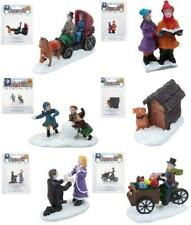 More details for miniature christmas village characters resin carol singers dog house multipack