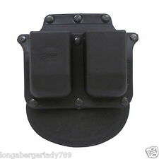 FOBUS PADDLE HOLSTER DOUBLE MAG MAGAZINE CASE POUCH 4 GLOCK 36 S&W 45 CLIP  BELT