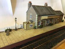 OO Gauge Scratch Built, Railway Station & Platform Diorama Scenecraft,Skaledale