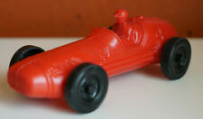 Mexican Vintage Red Race Car Hard Plastic Toy 1970s