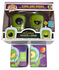 KIDROBOT The Simpsons ALIENS Kang Kodos GLOW IN DARK SDCC FUNKO Limited Figures