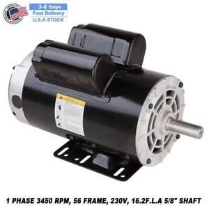 5 HP SPL 3450 RPM Air Compressor 60 Hz Electric Motor , 208-230 Volts USA