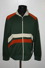 Nautica Jeans Green Cream Orange Full Zip Track Jacket L