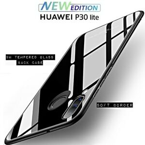 Cover For Huawei P30 Lite New Edition Crystal Glass With Retro Tempered Glass
