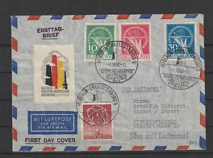 Berlin FDC Ersttagsbrief MiNr. 91 mit 68-70 Gestempelt auf Brief
