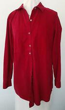 J.JILL QUALITY Fine Wale Corduroy Cord Shirt Top Cranberry Red Sz Medium Cotton