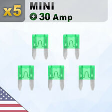 New listing 5 Pack Mini 30A Fuse Blade 30 Amp Fuses Blades Assortment Apm Pcs Atm Ato Atc