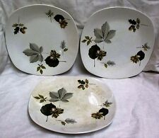 "3 9.5"" 1960's Midwinter Stylecraft Nuts In May Dinner Plates"