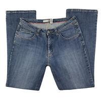 Chico's Women Size 0.5 | 6 Platinum Light Wash Straight Jeans Denim Pants Blue