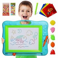 Gamenote Extra Large Magnetic Drawing Board 18×13 with Stamps & Stencils & Repla
