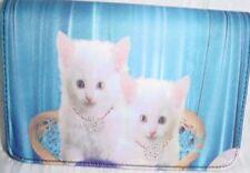 White Kitten Microfiber Checkbook Wallet