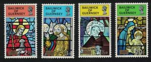 Guernsey Stained Glass Windows Christmas 4v 1973 MNH SG#89-92 SC#86-89