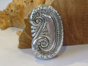 R.Wallace & Sons  Sterling Silver Victorian Vesta Nautilus Match Safe