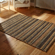 Jute Natural Fibres Striped Hand-Woven Rugs