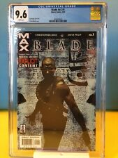 Blade #1 v2 CGC 9.6 White Pages plus issue 2,3,4,5 Marvel 2002